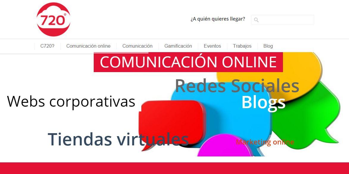 diseño web y community manager para empresa de comunicación en Bilbao