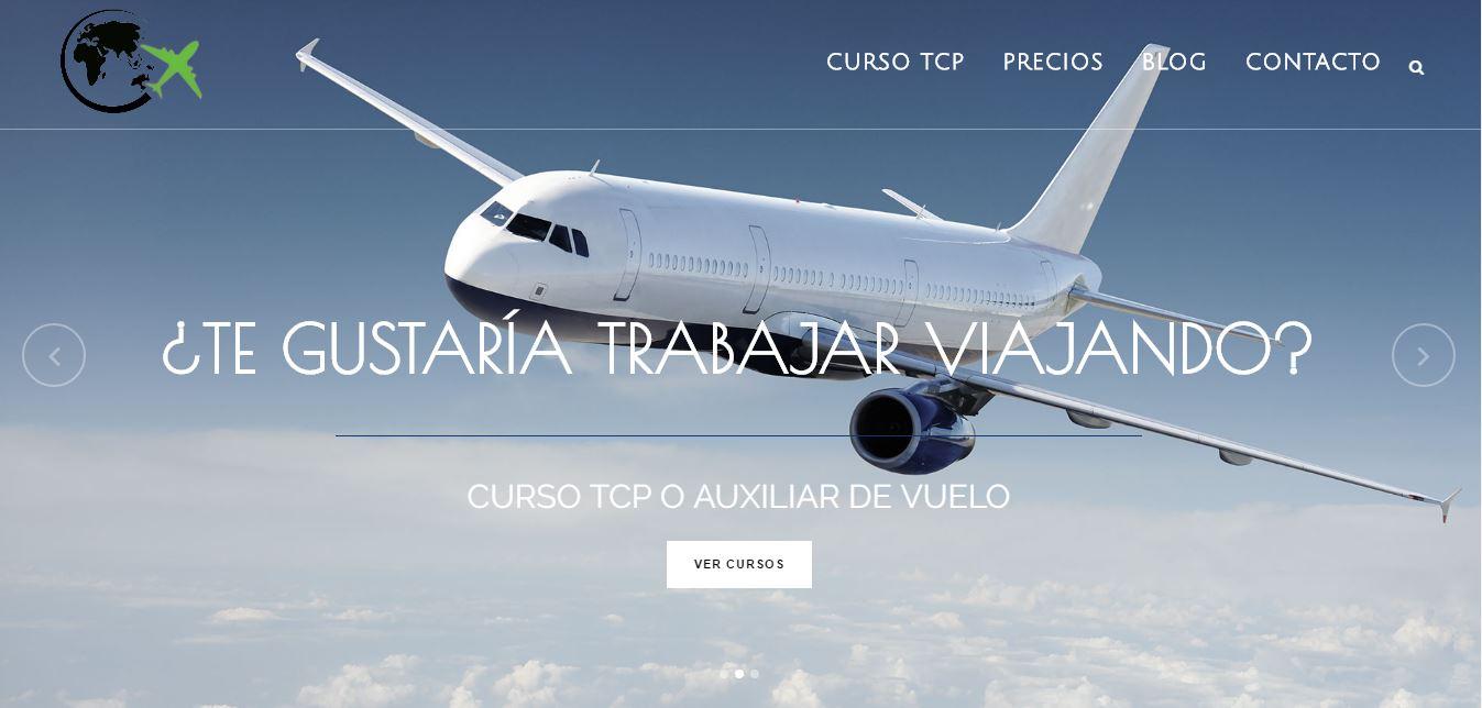 web en wordpress para empresa de formación de TCP o academia de azafatas de vuelo en Valencia