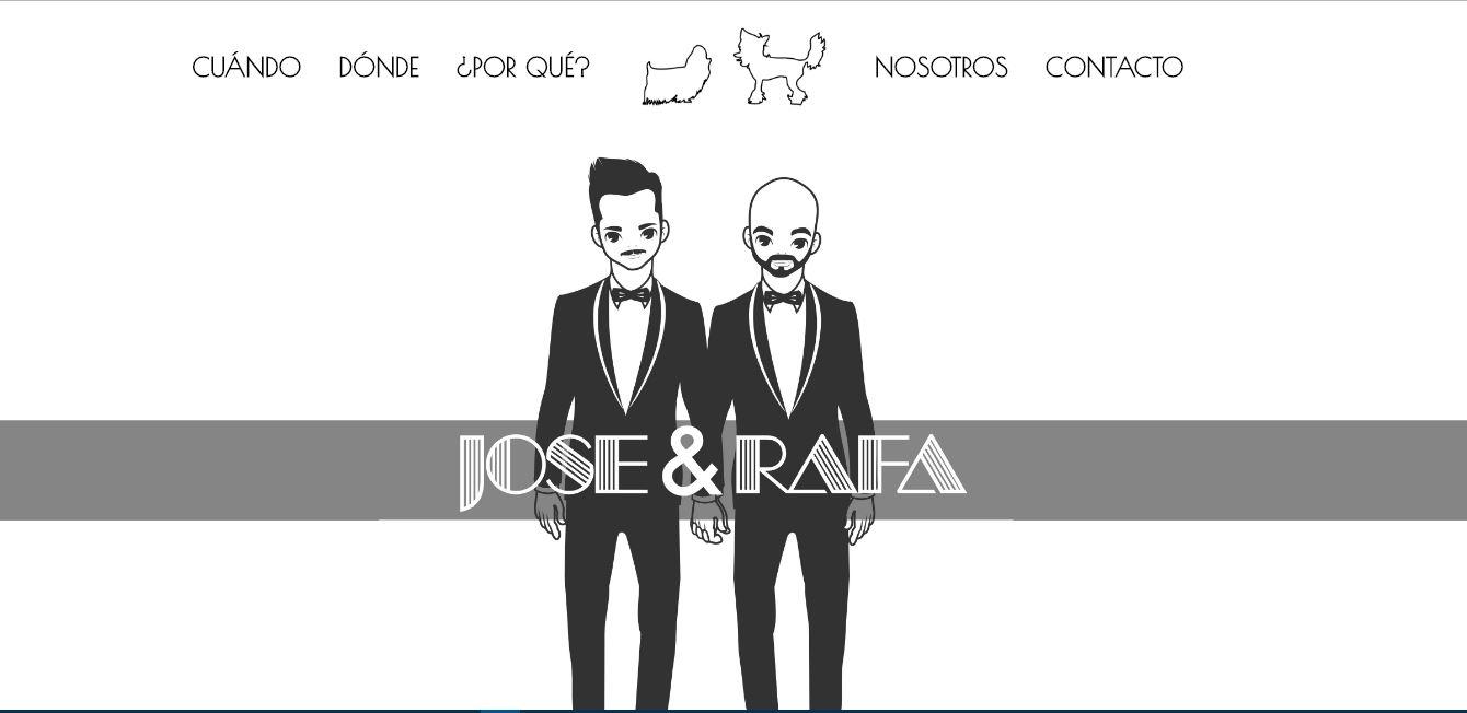 webs para bodas en Valencia - la web para la boda de Rafa Moreno y Jose Alandes en Valencia - rafaypepito.com