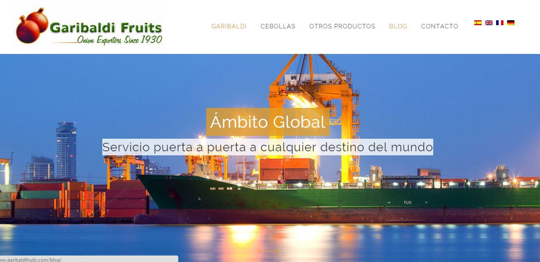 diseño web en wordpress para pyme - Exportadores de fruta y verdura Garibaldi Fruits