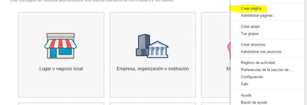 crear una página de fans de facebook en Valencia