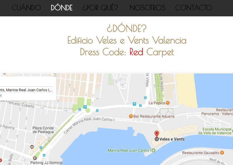 el mapa o cómo llegar es imprescindible en una web para una boda