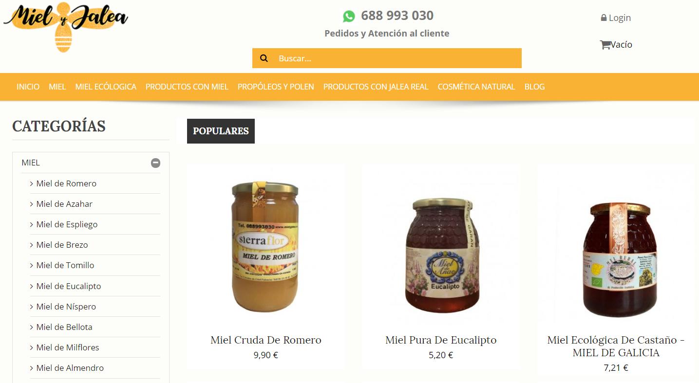 tienda online para empresas ámbito rural, productos artesanos