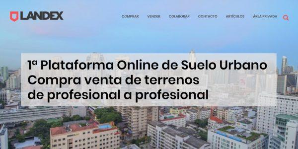 Landex web corporativa para startup