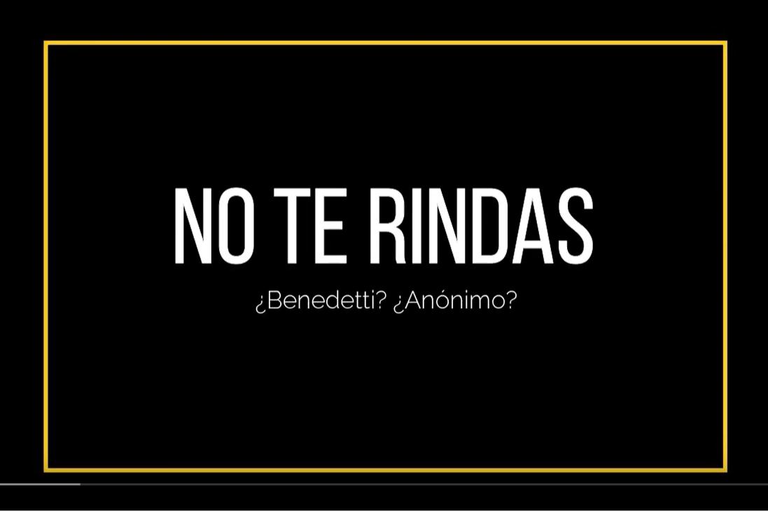 Poema No te rindas - Benedetti - Literatura - Poesía - Clases online
