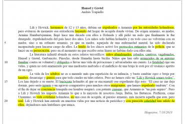 Solución Texto 2: Hansel y Gretel de Andrés Trapiello